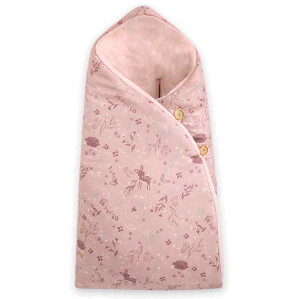 arrullo capucha little forest rosa petitpraia