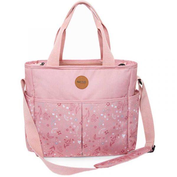 bolso cochecito little forest rosa tuc tuc