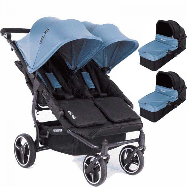 easy twin 3S light Baby Monster Azul con capazo