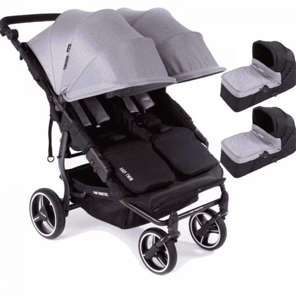 easy twin 3S light Baby Monster gris con capazo