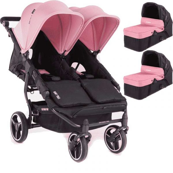 easy twin 3S light Baby Monster rosa con capazo