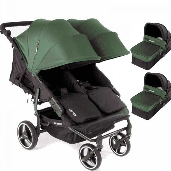 easy twin 3S light Baby Monster verde con capazo