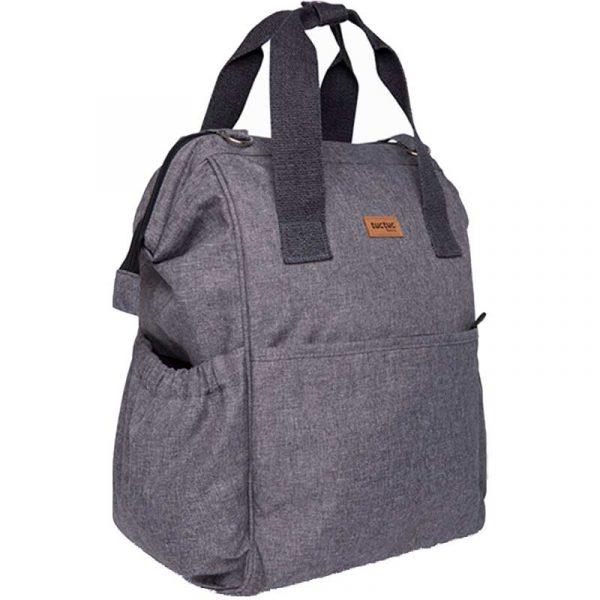 mochila maternal basic gris tuc tuc