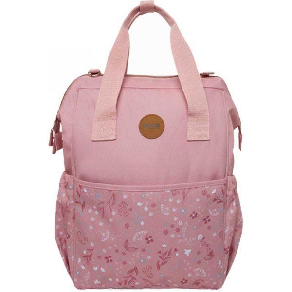 mochila maternal little forest rosa tuc tuc