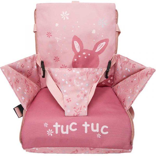 trona portatil little forest rosa tuc tuc