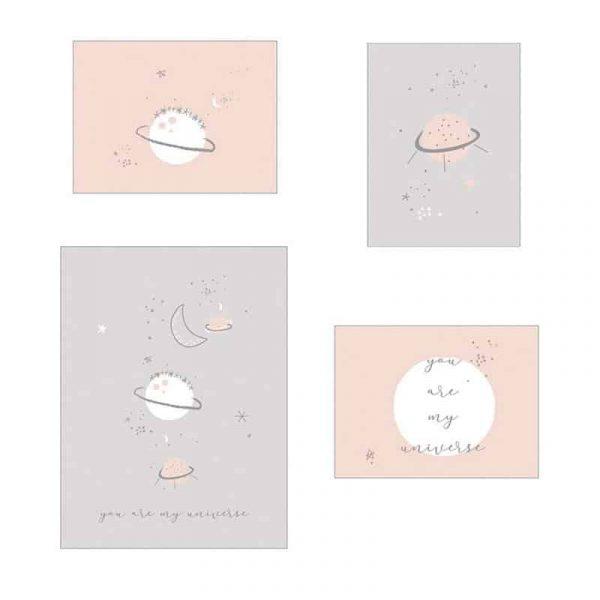Bimbidreams by casual pack 4 laminas planet rosa