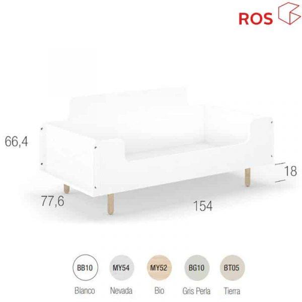 Montesori Ros cuna convertible fold 70 1