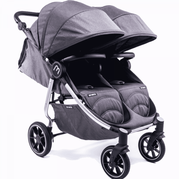 silver easy twin 4 Baby Monster Gris