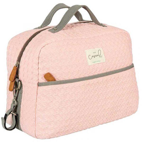 bolso maternidad croche rosa bimbi casual