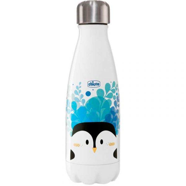 botella acero inoxidable 350 ml azul chicco