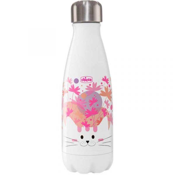 botella acero inoxidable 350 ml rosa chicco