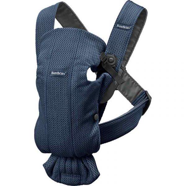 mochila mini tejido mesh azul babyjorn