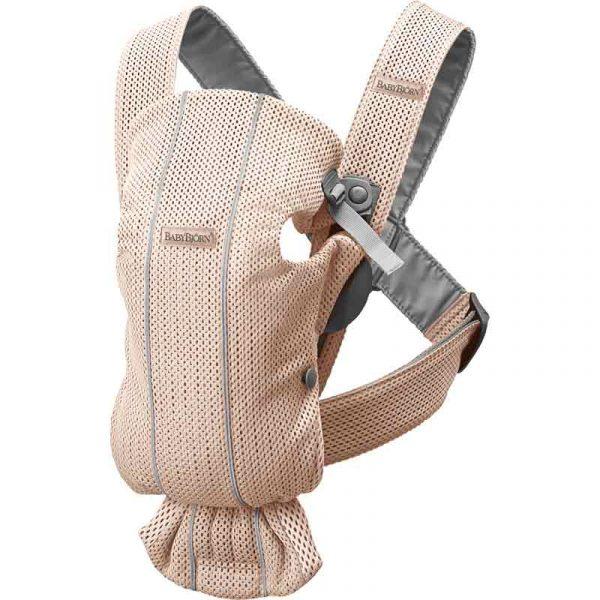 mochila mini tejido mesh rosa babyjorn